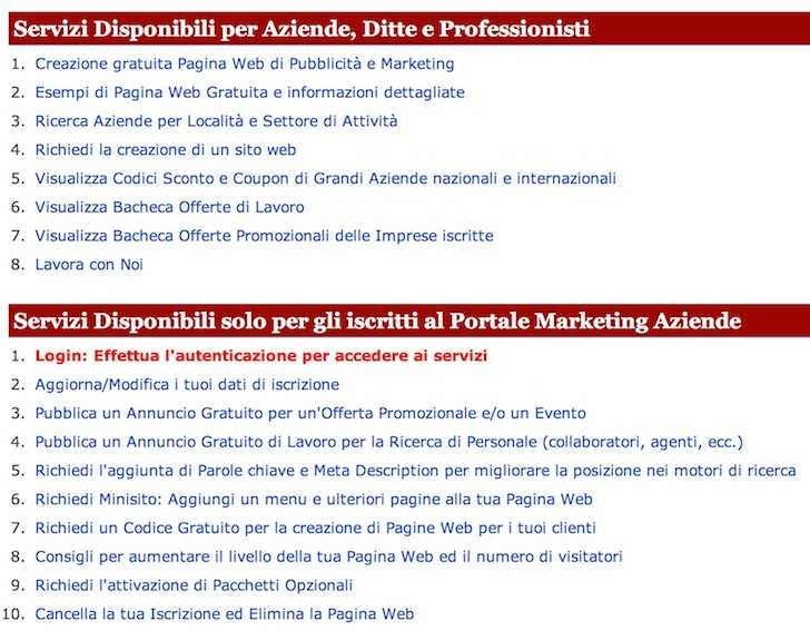 portale marketing aziende
