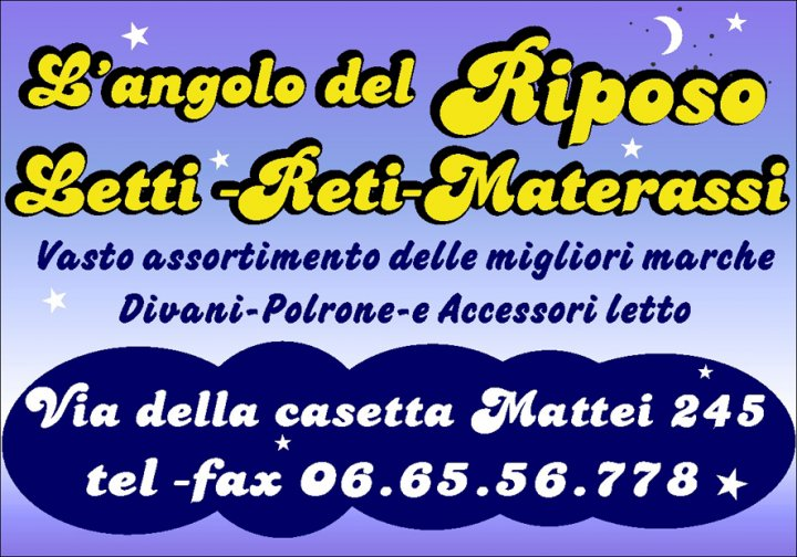 L Angolo Del Materasso.Letti Materassi Reti Poltrone Relax Roma L Angolo Del Riposo